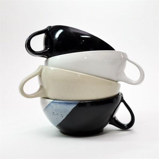 SCHWARZWEISSKERAMIK Rasier-Mug, Modell SCHALE