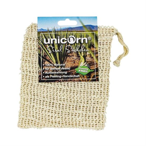 Seifensäckchen aus Sisal, Kordelzug mit Holzkugel