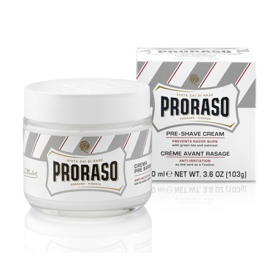 "PRORASO Pre-Shave ""sensitiv"" (weiß) 100ml"