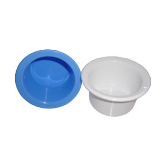 Rasiertiegel klein aus Kunststoff, hellblau