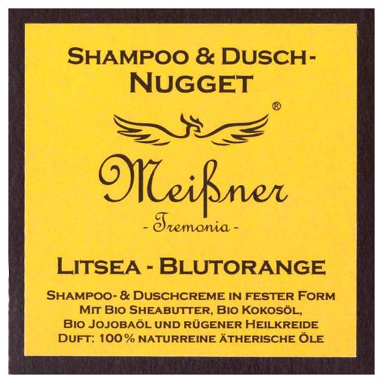 "Meißner Duschnuggets ""Litsea - Blutorange"" 95g"