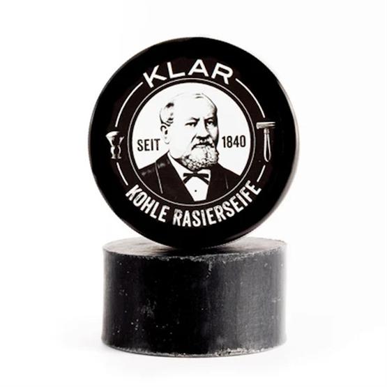 """KLAR Rasierseife """"Kohle"""" 110g (mit Aktivkohle)"""