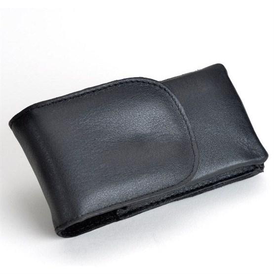 TIMOR Rasierhobel-Etui aus Rindleder, schwarz