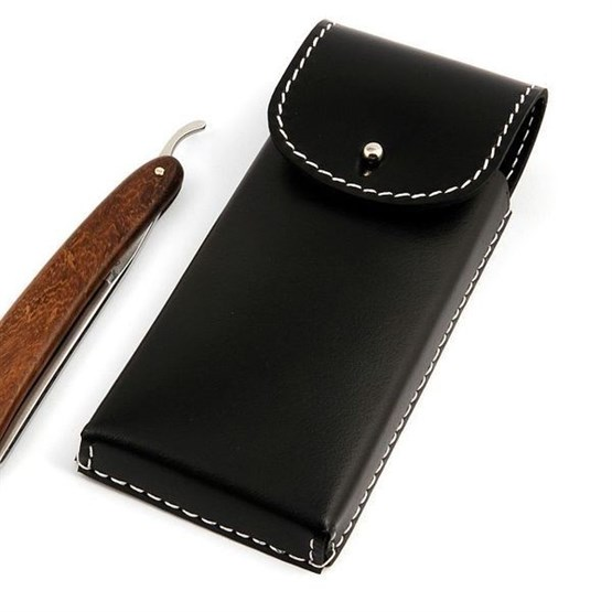 G+F Rasiermesser-Etui aus Rindleder, für 2 Messer