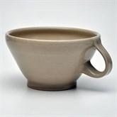 SWK Rasier-Mug, Modell TRICHTER, Farbe CREME natur