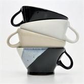 SCHWARZWEISSKERAMIK Rasier-Mug, Modell TRICHTER