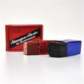 Stangen-Doppelpasta rot/schwarz (fein/extrafein)