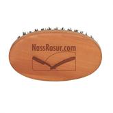 Bartbürste Typ 3, Birnbaumholz geölt, Naturborste