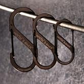 S-BINER Karabiner Edelstahl schwarz (3 Größen)